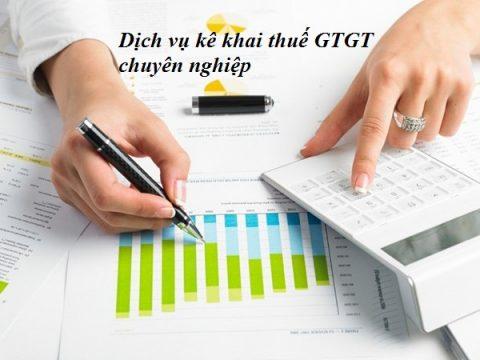 Dịch vụ kê khai thuế GTGT