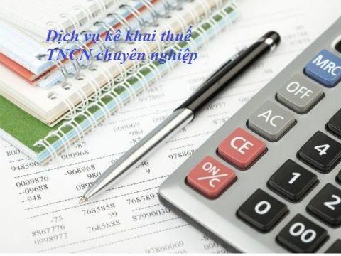 Dịch vụ kê khai thuế TNCN